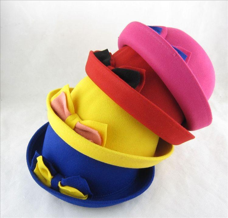 Фетровые шляпки для девочек