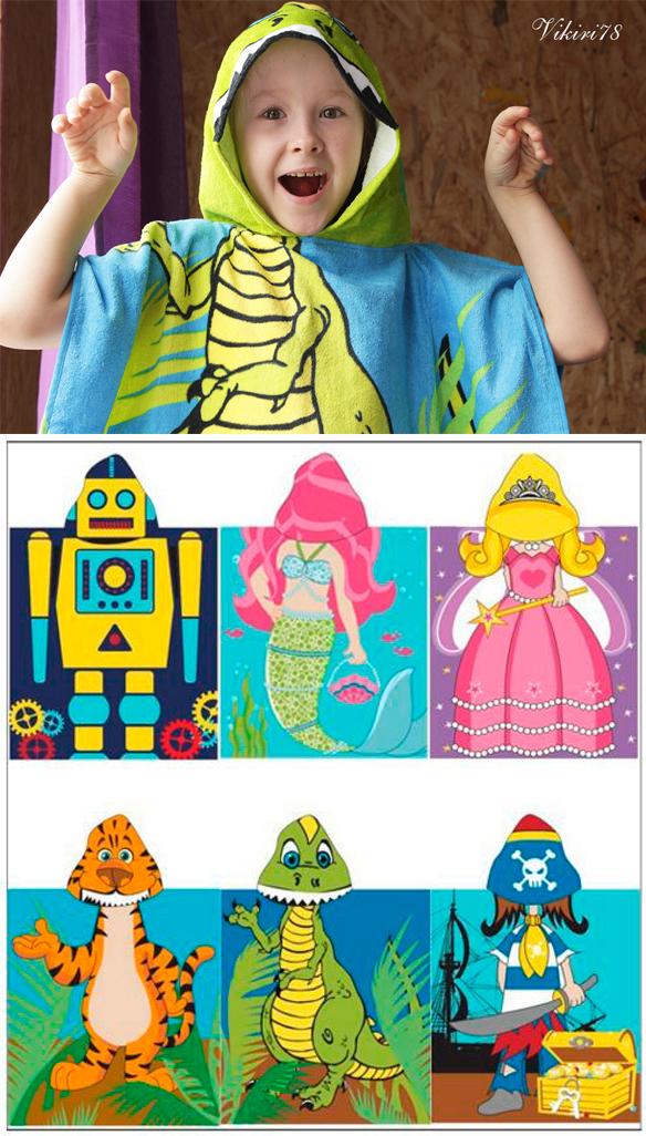 Детское полотенце-накидка с капюшоном с Алиэкспресс