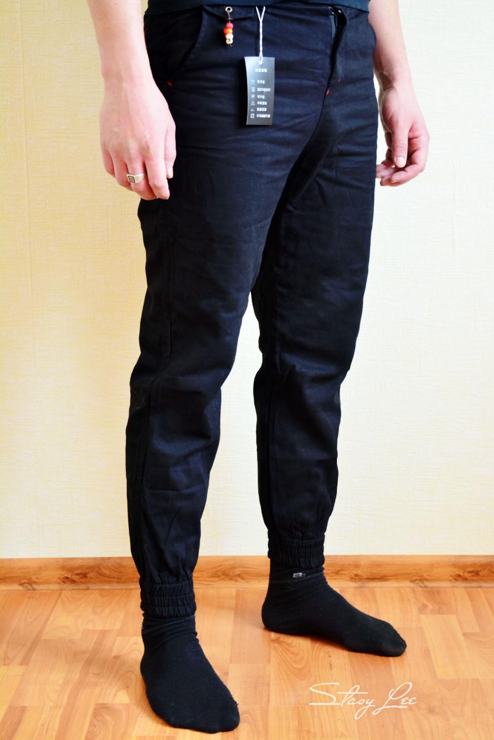 Зауженные мужские штаны с Алиэкспресс