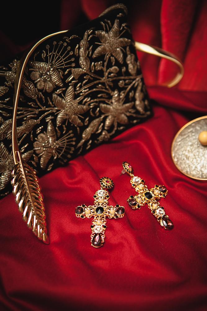 Free shipping retro temperament exaggerated oversized cross earrings female flower earrings jewelry